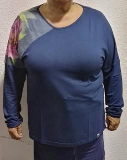 Camiseta ancha modelo 21406 Azul Real Noos Noos