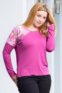 Camiseta ancha modelo 21406 flor de amarano Noos Noos